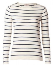 Navy Striped top at LuLLiLu
