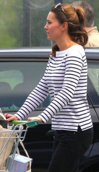 Breton top and Paige jeans